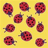 10 Ladybugs Art Print