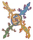 Celtic Knot Lizards Art Print