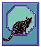 Octagonal Cat Art Print