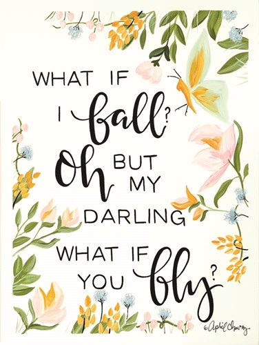 What if I Fall Art Print by Chavez