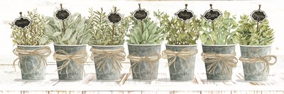 Herbs in a Row Art Print by Jacobs
