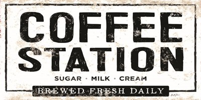 Coffee Station Art Print by Talent