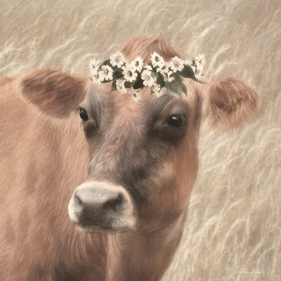 Floral Cow II Art Print by Deiter