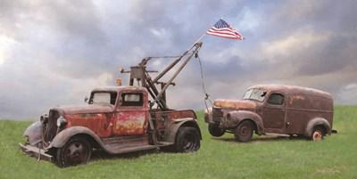 Two Truck Rescue Art Print by Deiter