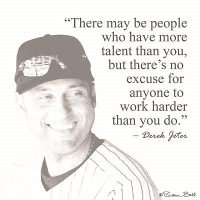 Baseball Greats - Derek Jeter Art Print by Ball