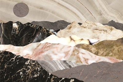 Marble Mountains Art Print by Sophie 6