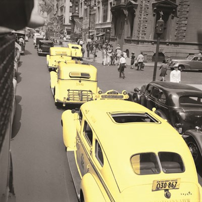 Yellow Cabs Art Print by Sophie 6