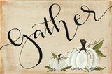 Gather Pumpkins Art Print
