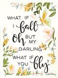 What if I Fall Art Print