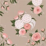 Pink and White Floral Art Print