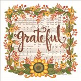 Grateful Wreath Art Print