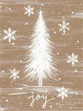 Joy Christmas Tree Art Print