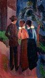 Promenade Of Three People I,  1914 Art Print