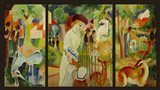 Large Zoological Garden (Triptych) Art Print