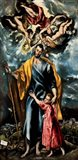 Saint Joseph and the Christ Child Art Print