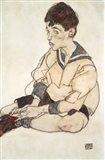 Portrait Of Paul Erdmann In A Sailor Suit Art Print