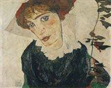 Portrait Of Wally, 1912 Art Print