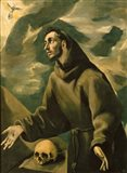 Saint Francis Receives the Stigmata Art Print