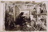 The Studio On The Boat,  c. 1860 Art Print