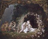 Titania Sleeping, 1841 Art Print