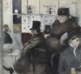 Interior Of The Cafe Nouvelle Athenes Art Print