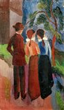 Promenade Of Three People II, 1914 Art Print