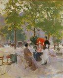 Open-air Parisian Cafe Art Print