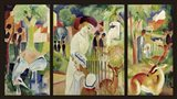 Grosser Zoologischer Garten (Triptychon) Art Print