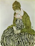 Edith Schiele Seated, 1915 Art Print
