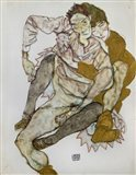 Seated Couple (Egon Und Edith Schiele), 1915 Art Print