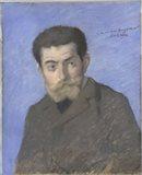 Portrait Of The Writer Joris-Karl Huysmans (1848-1907) Art Print
