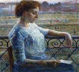 Sister on the Balcony 1909 Art Print