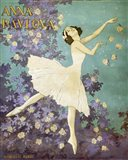 Design for a Poster of Anna Pavlova Gouache Art Print