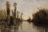 Banks Of The Seine, 1851 Art Print