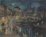 The Harbor of Marseille, 1929 Art Print