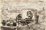 Luncheon on the boat (Dejeuner en bateau) Art Print