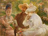 On The Terrace In Sevres With The Painter Henri Fantin-Latour Art Print
