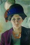 Elisabeth Macke With Hat, 1909 Art Print