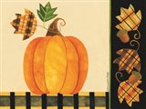 Pumpkin, Leaves and Acorns I Art Print
