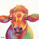 Cheery Cow Art Print