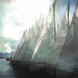Sailboat Marina I Art Print
