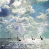 Sailing White Waters Art Print