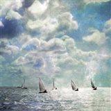 Sailing White Waters Art Print