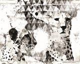 Modern Black & White Cheetahs Art Print