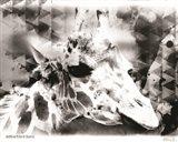 Modern Black & White Giraffe Art Print