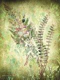 Organic Greenery in Damask I Art Print