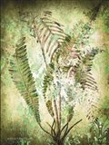 Organic Greenery in Damask II Art Print