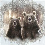Enchanted Winter Bears Art Print