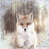 Enchanted Winter Fox Art Print