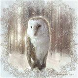 Enchanted Winter Owl Art Print